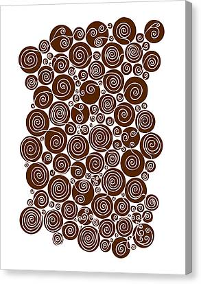 Brown Abstract Canvas Print by Frank Tschakert