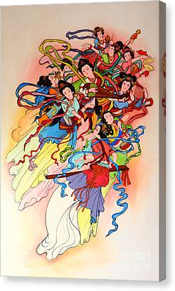 Chinese Painting  Canvas Print by Phalakon Jaisangat