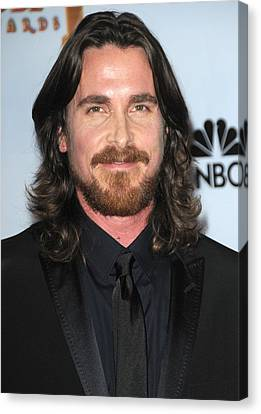 Christian Bale In The Press Room Canvas Print by Everett