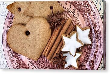 Christmas Gingerbread Canvas Print by Nailia Schwarz