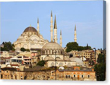 City Of Istanbul Canvas Print by Artur Bogacki