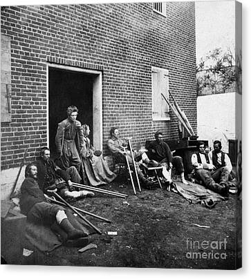 Civil War: Wounded, 1864 Canvas Print by Granger