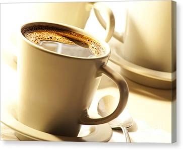 Coffee In Cup Canvas Print by Blink Images