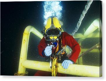 Commercial Diver Canvas Print by Alexis Rosenfeld
