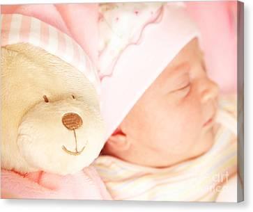 Cute Little Baby Sleeping Canvas Print by Anna Omelchenko