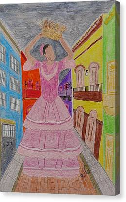 Dancer In Viejo San Juan Canvas Print by Jessica Cruz