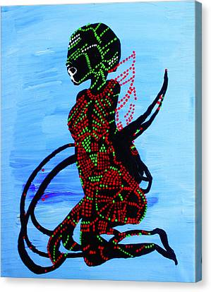 Dinka Bride - South Sudan Canvas Print by Gloria Ssali