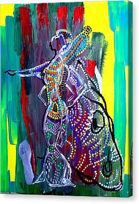 Dinka Lady - South Sudan Canvas Print by Gloria Ssali