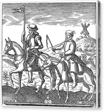 Don Quixote & Sancho Panza Canvas Print by Granger