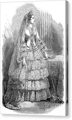 Empress Eugenie Of France Canvas Print by Granger