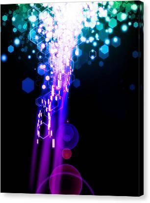 Explosion Of Lights Canvas Print by Setsiri Silapasuwanchai