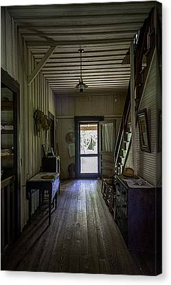 Farmhouse Entry Hall And Stairs Canvas Print by Lynn Palmer