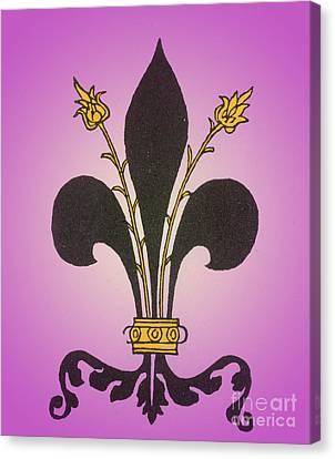 Fleur-de-lis Canvas Print by Science Source