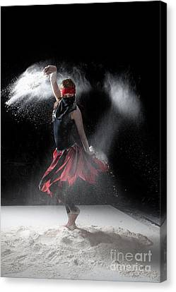 Flour Dancer Series Canvas Print by Cindy Singleton