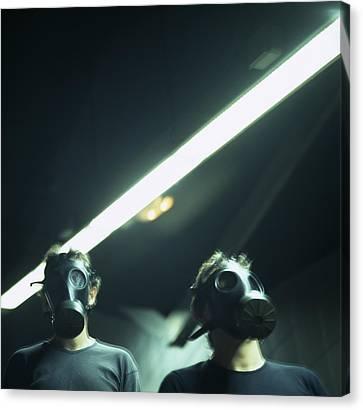 Gas Masks Canvas Print by Cristina Pedrazzini