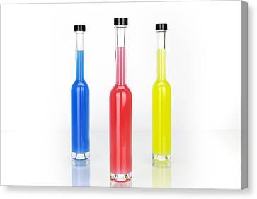 Glass Bottles Canvas Print by Joana Kruse