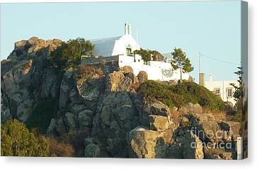 Greek Church Canvas Print by Therese Alcorn