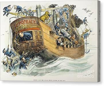 Grover Cleveland Cartoon Canvas Print by Granger