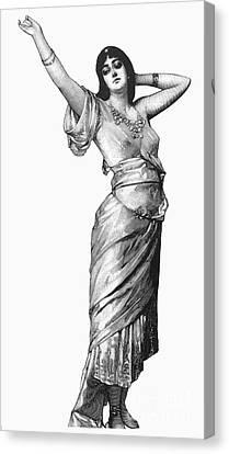 Harem Woman, 19th Century Canvas Print by Granger