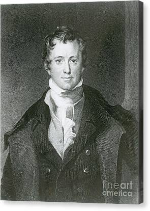 Humphry Davy, English Chemist Canvas Print by Science Source