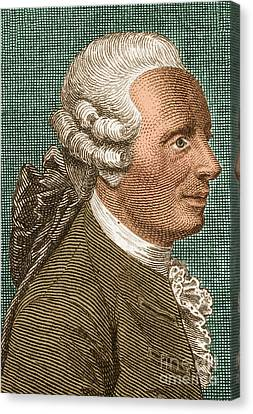 Jean Le Rond Dalembert, French Polymath Canvas Print by Science Source