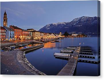 Lake Maggiore - Ascona Canvas Print by Joana Kruse