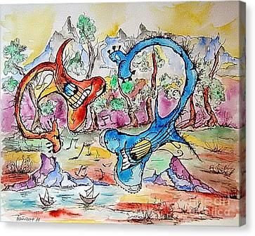 Loch Ness Guitars Canvas Print by Natasa Dobrosavljev