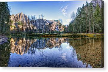 Merced River Canvas Print by Stephen Campbell