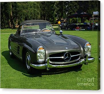 Mercedes 300 Sl Canvas Print by Peter Piatt