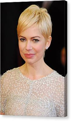 Michelle Williams At Arrivals For The Canvas Print by Everett
