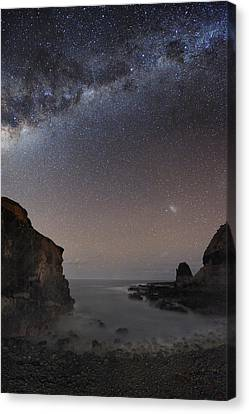 Milky Way Over Cape Schanck, Australia Canvas Print by Alex Cherney, Terrastro.com