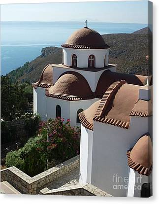 Monastery Of St Savas Canvas Print by Therese Alcorn