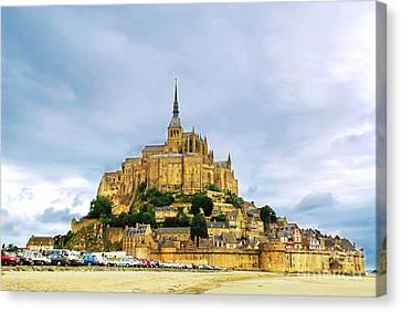 Mont Saint Michel Canvas Print by Elena Elisseeva