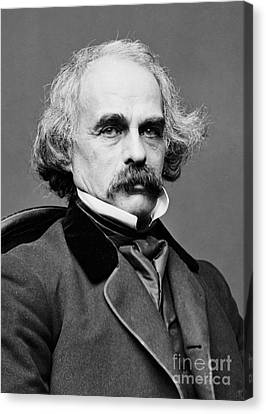Nathaniel Hawthorne, American Author Canvas Print by Photo Researchers