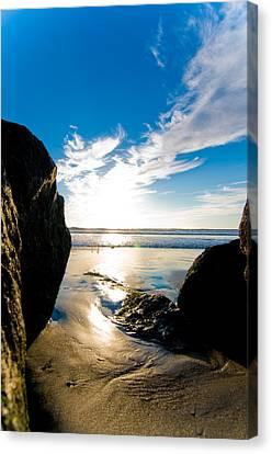 Ocean Beach Canvas Print by Mickey Clausen