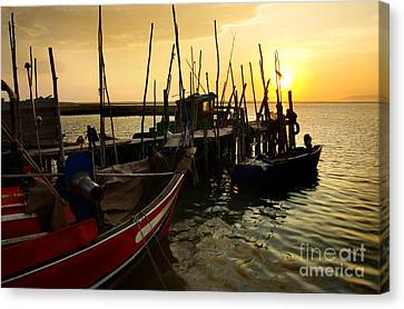 Palaffite Port Canvas Print by Carlos Caetano