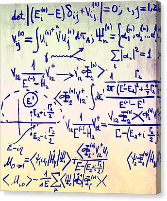 Particle Physics Equations Canvas Print by Ria Novosti