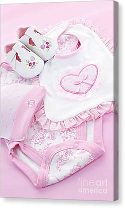 Pink Baby Clothes For Infant Girl Canvas Print by Elena Elisseeva