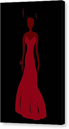 Red Dress Canvas Print by Frank Tschakert