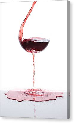 Red Wine Canvas Print by Floriana Barbu