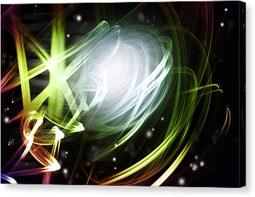 Space Background Canvas Print by Les Cunliffe