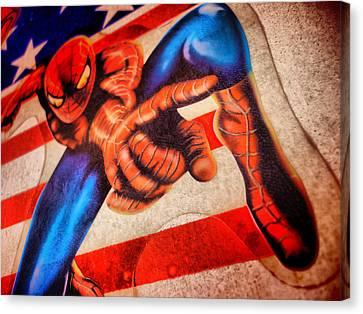 Spider Canvas Print by Beto Machado