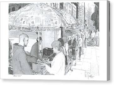 Street Eats Canvas Print by Larry Oldham