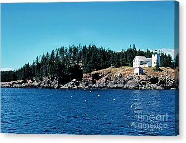 Swans Island Lighthouse Canvas Print by Thomas R Fletcher