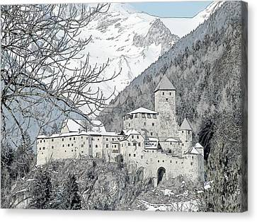 Taufers Knights Castle Valle Aurina Italy Canvas Print by Joseph Hendrix