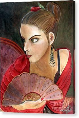 The Flamenco Dancer Canvas Print by Pilar  Martinez-Byrne