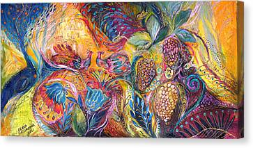 The Flowers And Fruits Canvas Print by Elena Kotliarker