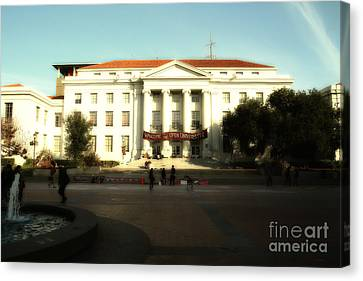 Uc Berkeley . Sproul Hall . Sproul Plaza . Occupy Uc Berkeley . 7d9994 Canvas Print by Wingsdomain Art and Photography