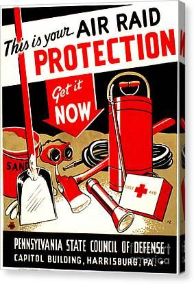 World War II Poster, C1943 Canvas Print by Granger
