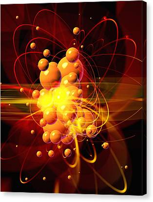Subatomic Particles Abstract Canvas Print by Mehau Kulyk